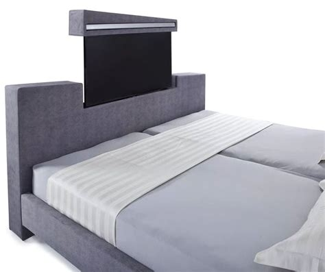 bed with built in tv jupiter multimedia bed features built in led tv with