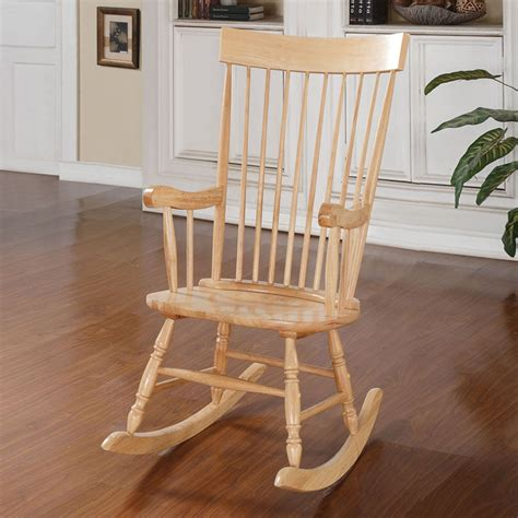 Living Room Rocking Chair Arlo Collection Transitional Living Room Accent Rocking Chair Wood In Ebay