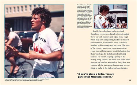 terry fox biography for students even though i m not running anymore we still by terry fox