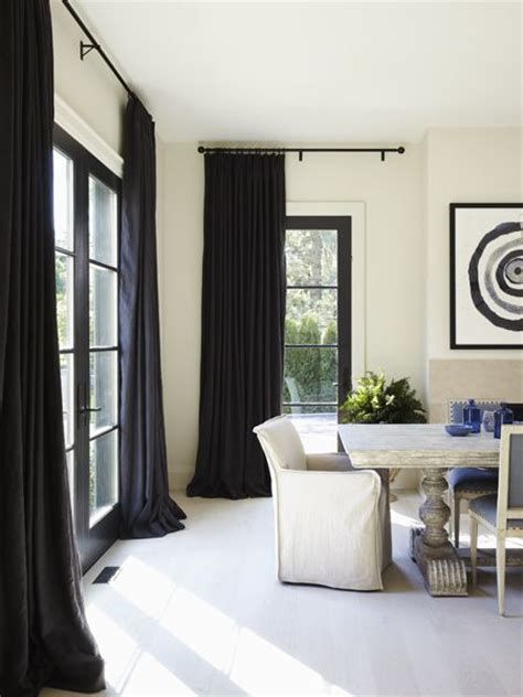 long black curtains 25 best ideas about hanging curtain rods on pinterest