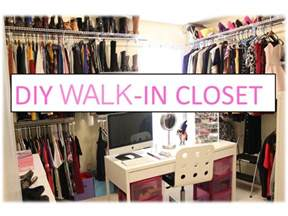 diy walk in closet