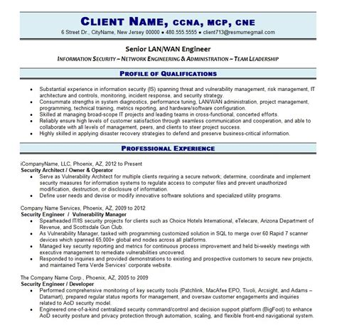 Resume Exles It Professional It Resume Resume Writing Guild