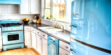 retro kitchen furniture 2018 31 best retro kitchen appliances for 2018 vintage inspired refrigerators kitchen appliances