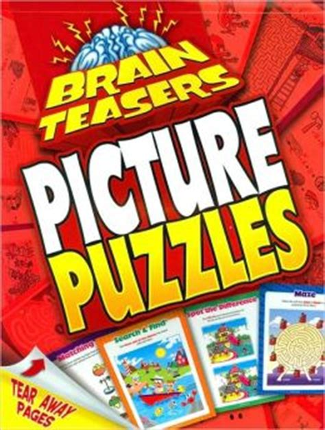 brain picture puzzles books picture puzzles brain teasers series by staff of
