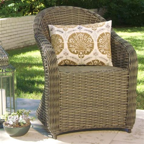 All Weather Wicker Patio Furniture Clearance All Weather Wicker Capistrano Outdoor Armchair World Market Dining Chairs Patio Furniture