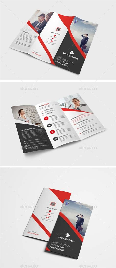 Trifold Brochure Ai Illustrator Brochure Template And Brochures Illustrator Leaflet Template
