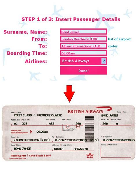 pretend plane ticket template airline ticket generator ticket o matic free