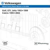 service and repair manuals 1995 volkswagen golf lane departure warning 1995 2002 vw cabrio 1993 1999 golf gti jetta factory repair manual cd rom