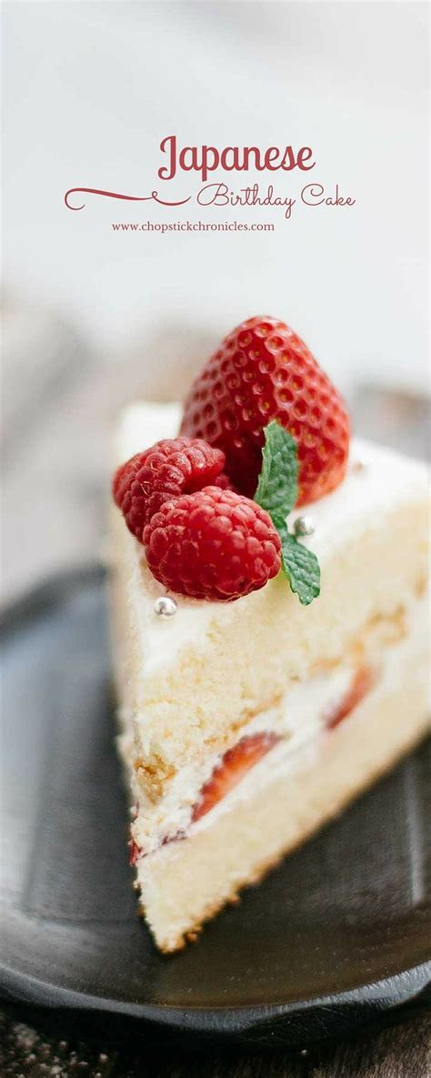 Japanese birthday cake   [ Cakes and Pies ]   Pinterest