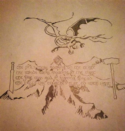 hobbit tattoo designs the hobbit by porrimpyrope on deviantart