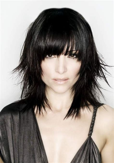 17 best images about chic choppy haircuts on pinterest dark medium choppy fringe style length and choppy with