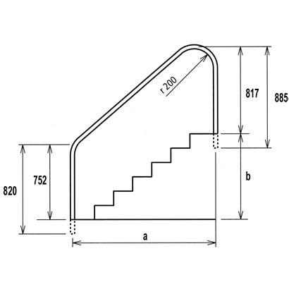 barandilla norma barandilla 2 curvas para p 236 scinas
