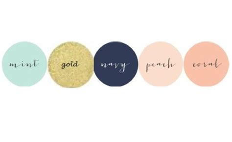 colors that go with mint my wedding colors mint gold navy blush
