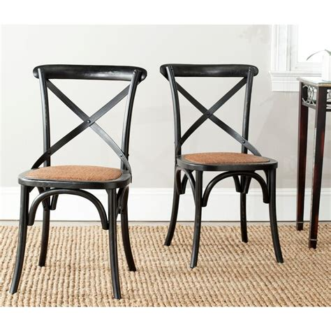 Safavieh Bistro Chairs Safavieh Franklin Hickory Oak X Back Dining Chair Set Of 2 Amh9500b Set2 The Home Depot
