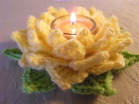 Crochet Lotus Flower Pattern Tealight Lotus Danielasneedleart