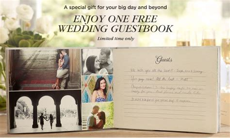 Wedding Guest Book Cover Page by Shutterfly Free 20 Page Wedding Guestbook Or Photo Book
