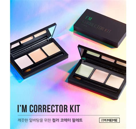 W Lab Color Master Cover Kit box korea memebox i m meme i m corrector kit 4 5g