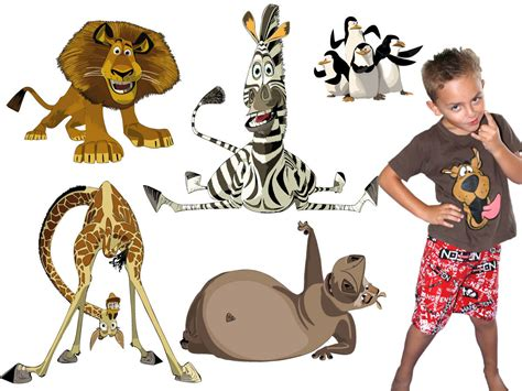 madagascar wall stickers totally movable buy now