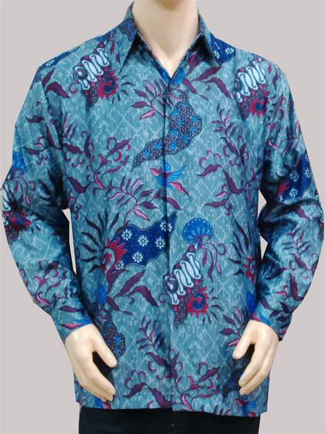 Kemeja Batik Lengan Panjang Semi Sutera Doby 2 jual kemeja batik sutera lengan panjang kemeja batik