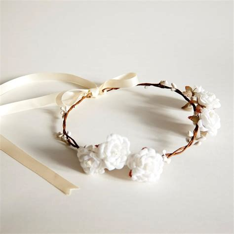 Handmade Flower Crown - handmade flower crown floral crown wedding flower crown