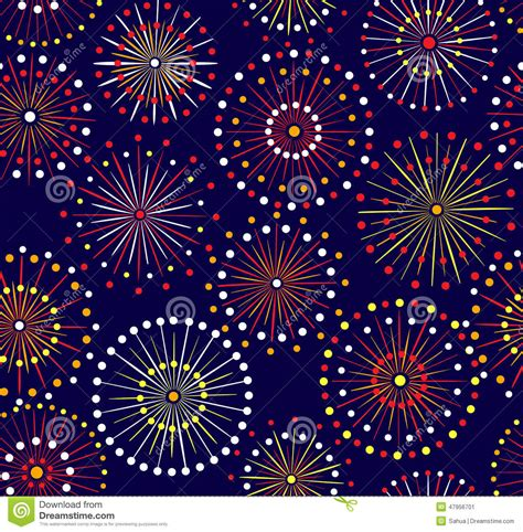seamless pattern fireworks seamless fireworks pattern stock vector image 47956701