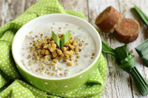 masak bubur kacang hijau  berbagai variasinya