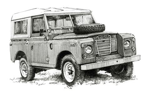 land rover drawing land rover by jules hammond