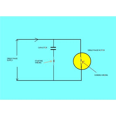 single phase a c motor with capacitor wiring single phase motor capacitor wiring diagram get free image about wiring diagram