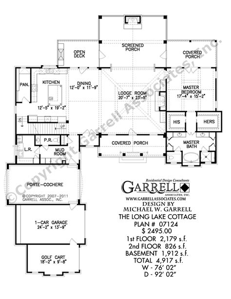 Long Floor Plans by Lake House Cabin Floor Plans