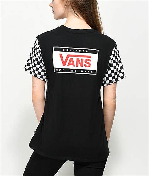 forwarding checker vans go forward checker black t shirt zumiez
