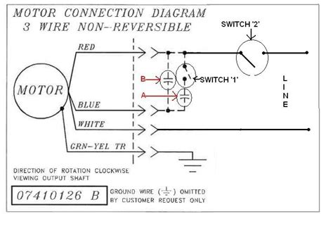 electric motor wiring diagram 220 110 volt relay diagram