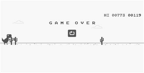chrome game dino how to play t rex game on google chrome while being online