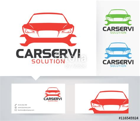 Car Service Post Card Template by Quot Car Service Vector Logo With Alternative Colors And