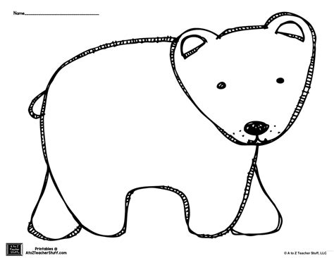 Polar Template by Brown Or Polar Outline Coloring Page A To Z
