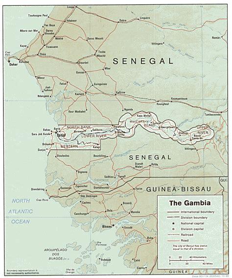 africa map gambia gambia karte routen