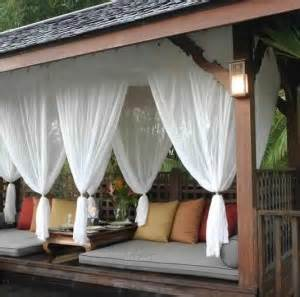 Gazebo Outdoor Curtains by Curtains Screens Amp Netting For Garden Gazebos