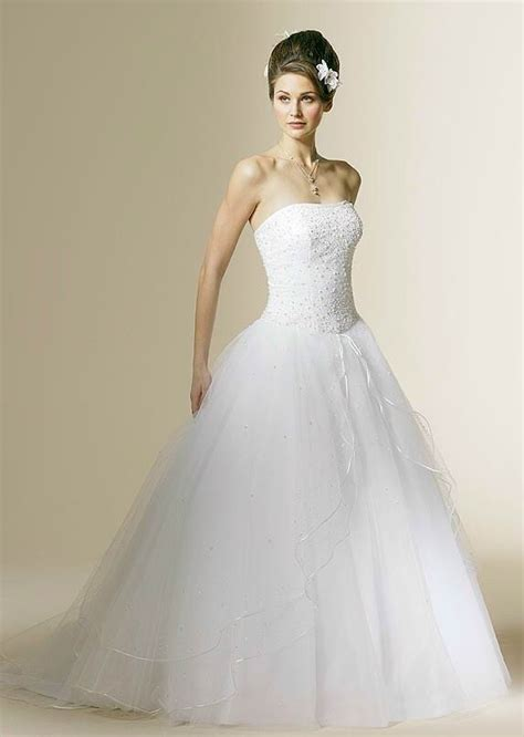 a strapless ball gown wedding dress sang maestro