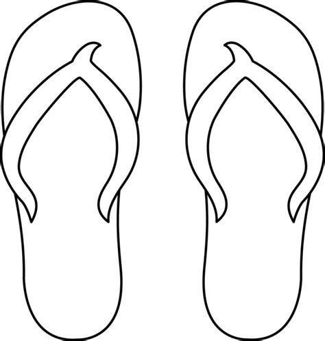 template of flip flops flip flop coloring page printable coloring image