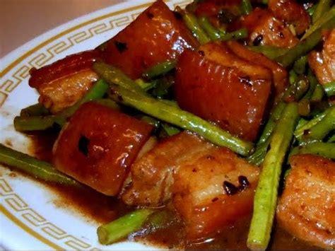Porkbelly Black Sauce stir fry pork belly with green beans in garlic black bean sauce