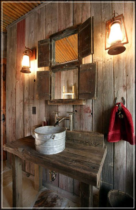 Cabin Bathroom Ideas Tips To Enhance Rustic Bathroom Decor Ideas Home Design Ideas Plans
