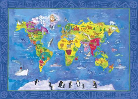 children s room map mural