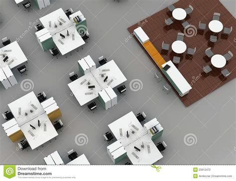 Free Floorplan Creator open space office on gray background stock photography