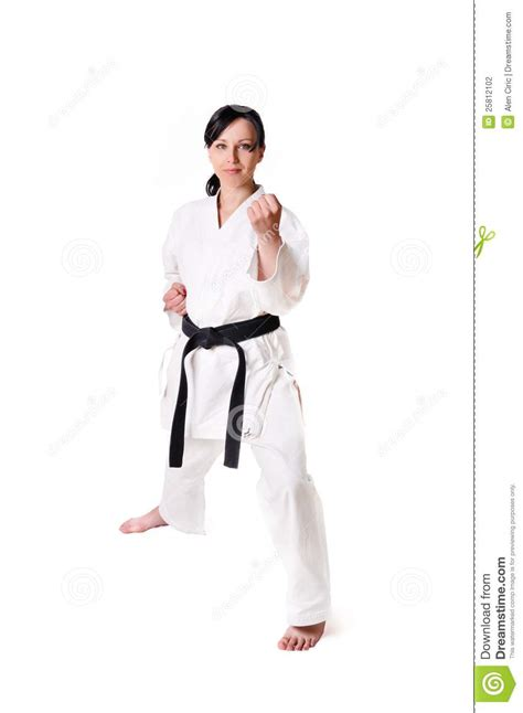 Karate The Masster Of Attack And Defence karate posing stock photography image 25812102