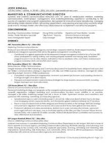 Church Communications Director Sle Resume by Exle Director Of Marketing Communications Resume Free Sle