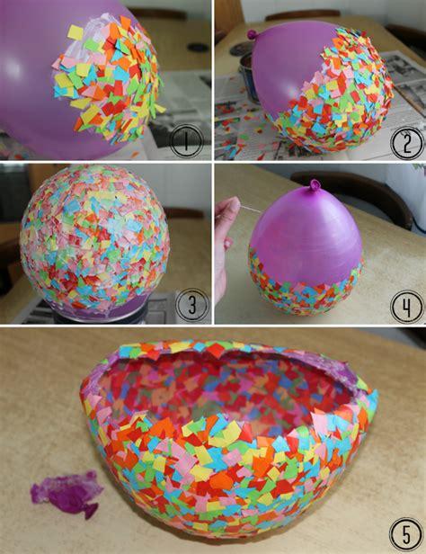 como decorar dulceros con papel china diy deco cuenco de colores i love it
