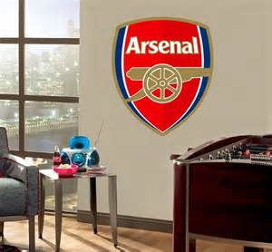 details about huge arsenal logo wall sticker removable decal home gunners allposters