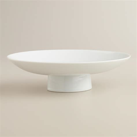 White Pedestal Bowl 9 5 quot white pedestal bowl world market