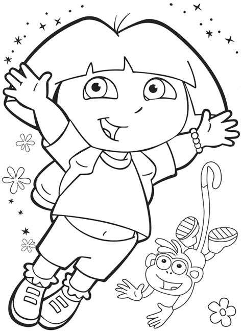 childrens coloring pages dora dora the explorer free coloring pages coloringpages4kidz com