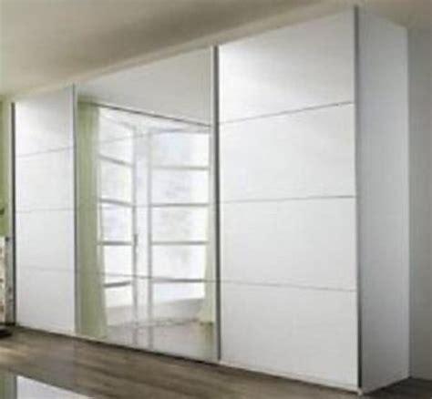 schiebe kleiderschrank gro 223 wei 223 matt mit spiegel modern - Schiebe Kleiderschrank Mit Spiegel