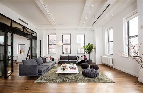 wohnzimmer new york style a light filled loft in new york city s east